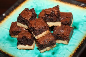 Love Bites - A brownie with a delicious shortbread crust. 1 week shelf life.